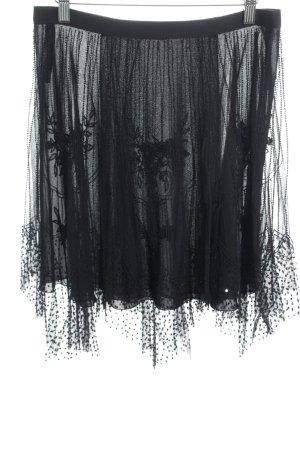 Emporio Armani Minirock schwarz florales Muster Elegant