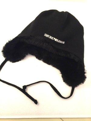 Emporio Armani Chapeau en fourrure noir laine