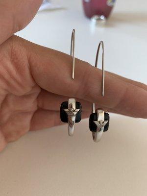 Emporio Armani Statement Earrings silver-colored-black