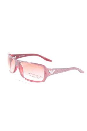 Emporio Armani Gafas de sol ovaladas rosa empolvado look Street-Style