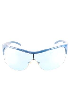 Emporio Armani ovale Sonnenbrille dunkelblau-neonblau sportlicher Stil