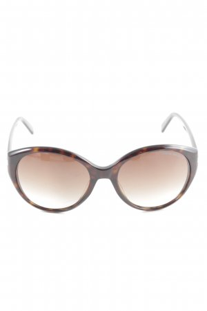 Emporio Armani Oval Sunglasses black-bronze-colored business style