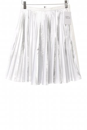 Emporio Armani Pleated Skirt white-silver-colored metallic look