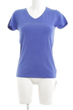 Emporio Armani Print-Shirt blau schlichter Stil