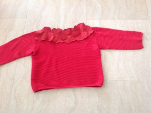 Armani Knitted Sweater brick red mixture fibre