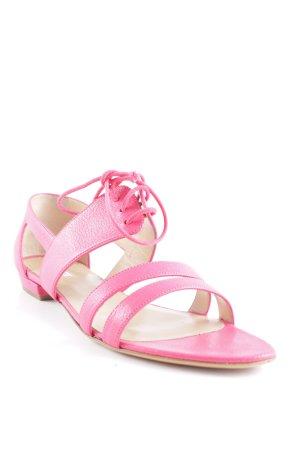 Emporio Armani Strapped High-Heeled Sandals magenta street-fashion look