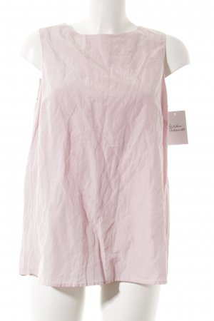 Emporio Armani Backless Top pink wet-look