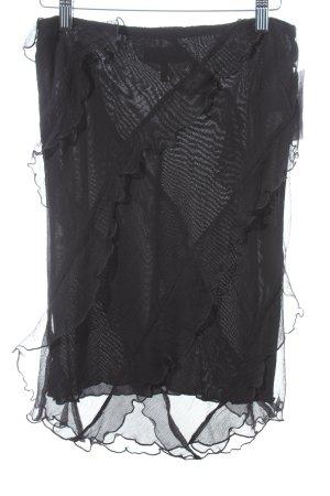 Emporio Armani Seidenrock schwarz Elegant