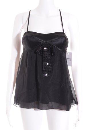Emporio Armani Seidentop schwarz Elegant