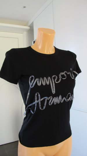 Armani T-Shirt black-grey viscose
