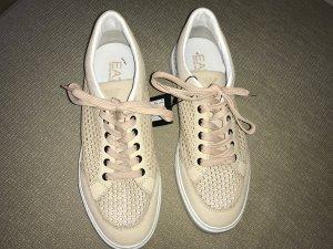 Emporio Armani Sneaker Turnschuhe Schuhe 40 nude Leder  NEU