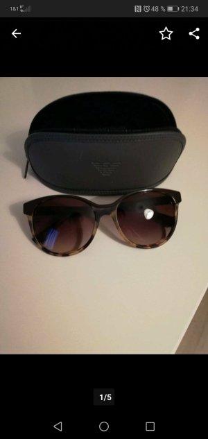 Emporio Armani Round Sunglasses grey brown