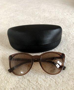 Emporio Armani Occhiale da sole rotondo marrone-marrone chiaro