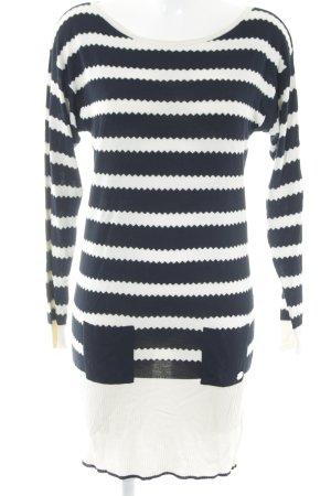 Emporio Armani Strickkleid wollweiß-dunkelblau Streifenmuster schlichter Stil