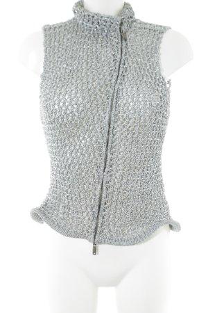 Emporio Armani Gilet tricoté gris clair Motif de tissage élégant