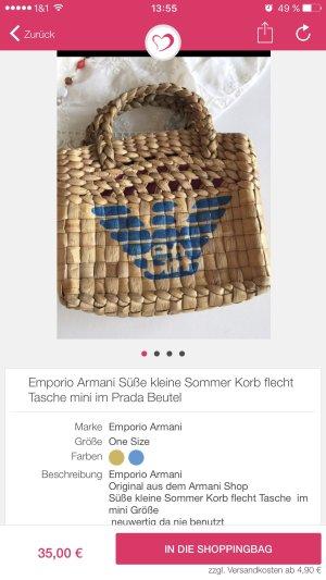 Emporio Armani Süße kleine Sommer Korb flecht Tasche mini im Prada Beutel