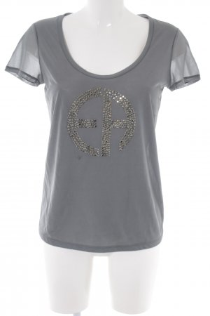 Emporio Armani T-Shirt hellgrau Street-Fashion-Look