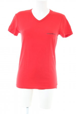 Emporio Armani T-Shirt rot Casual-Look