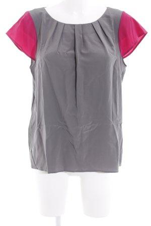 Emporio Armani T-Shirt magenta-grau Casual-Look