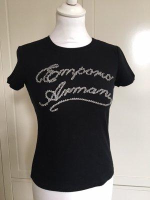 Emporio Armani T-Shirt schwarz in XXS mit Logo aufgenäht Gr. 32