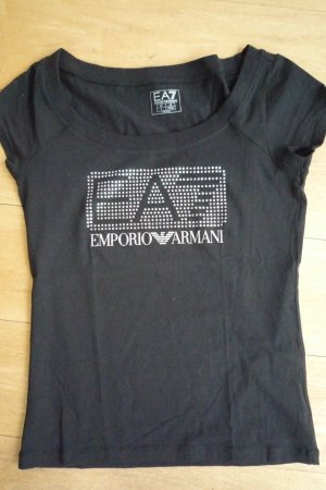 Armani T-Shirt black cotton
