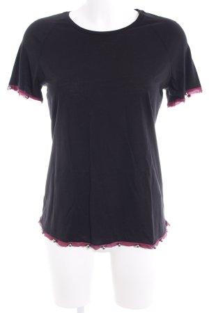 Emporio Armani T-Shirt schwarz-purpur Casual-Look