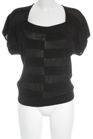 Emporio Armani T-Shirt schwarz Streifenmuster Elegant