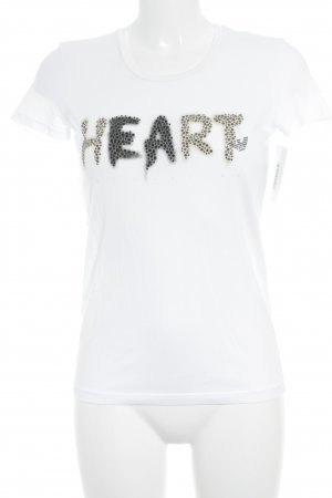 Emporio Armani T-shirt wit-taupe gedrukte letters casual uitstraling