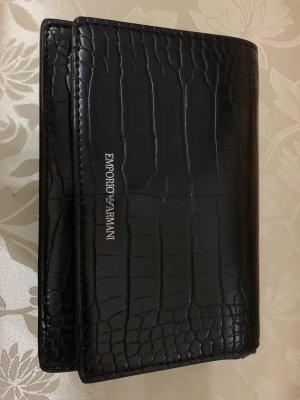 Emporio Armani Mini sac noir-argenté faux cuir