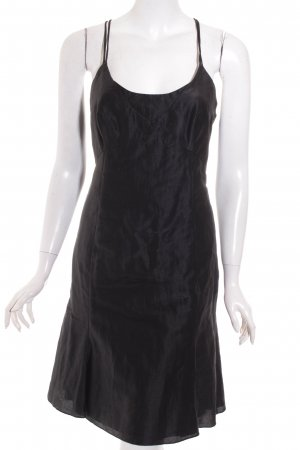 Emporio Armani Vestido tipo overol negro elegante