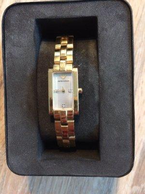 Emporio Armani Uhr in Gold mit Brillianten