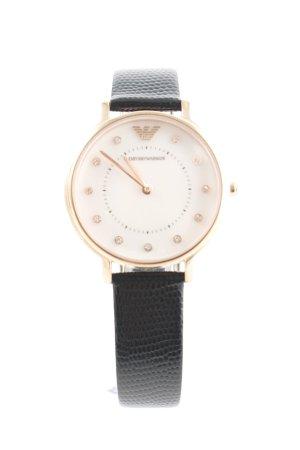 """Emporio Armani Reloj con pulsera de cuero """"AR80011 Leather Perlmutt Set Gold"""""""