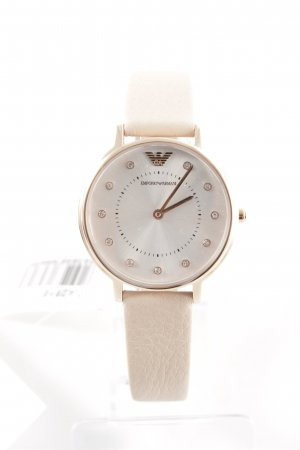 "Emporio Armani Uhr mit Lederarmband ""Ladies Kappa Watch Leather Nude"""