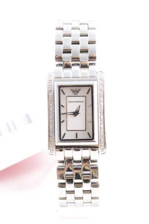 Emporio Armani Uhr mit Metallband silberfarben Elegant