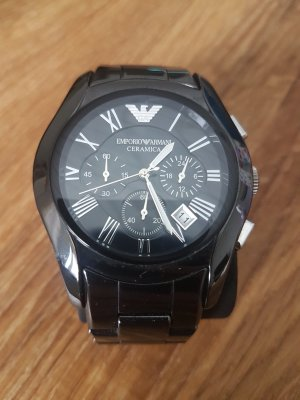 Emporio Armani Watch With Metal Strap anthracite