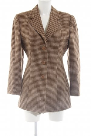 Emporio Armani Blazer en laine bronze-crème imprimé allover style d'affaires