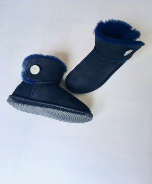 Emu Bottes de neige bleu foncé-bleu cuir