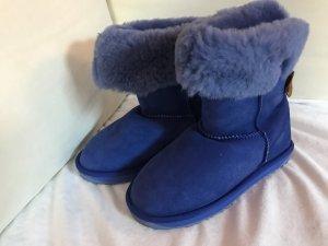 Emu Boots Blau Fell Stiefel