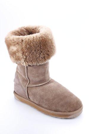 Emu Boots graubraun Kuschel-Optik