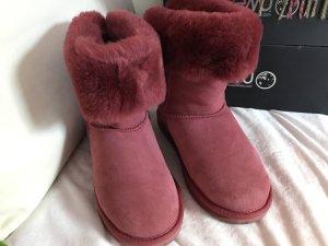 EMU Boots Rote Stiefel Alba