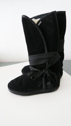 Emu Bottes de neige noir cuir