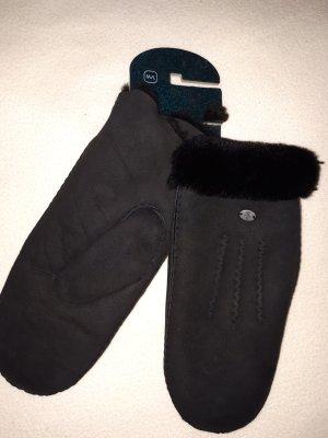 Emu Mittens black leather