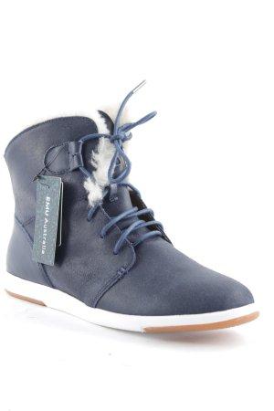 Emu High Top Sneaker dunkelblau-wollweiß Casual-Look