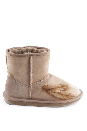 Emu Short Boots beige-light brown themed print casual look