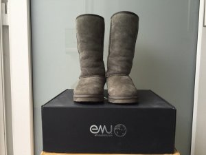 Emu Fur Boots multicolored leather