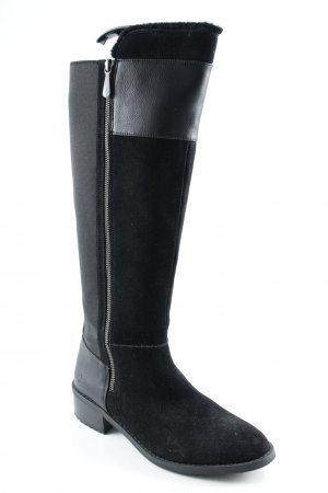 Emu Winterstiefel schwarz Materialmix-Look