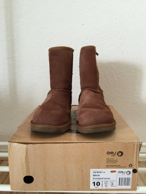 Emu Wool Boots Hip Button Lo in Farbe Chocolate Größe 38