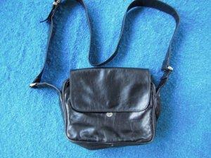 Emy, Echtleder Tasche, Schwarz,  Made in Italy