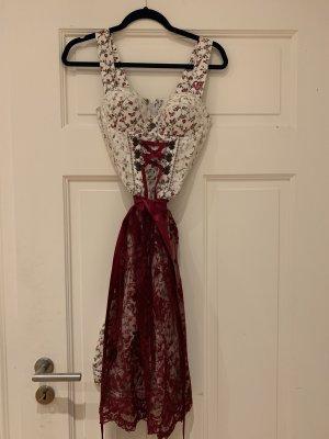 ENA trachten Bustier Dress white-bordeaux