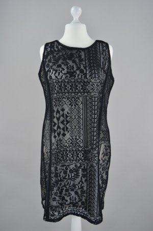Robe de soirée noir-gris anthracite